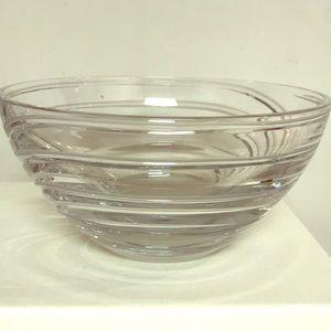 Crystal Bowl with swirls